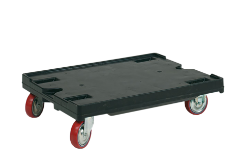 Wheel plate for use with cases