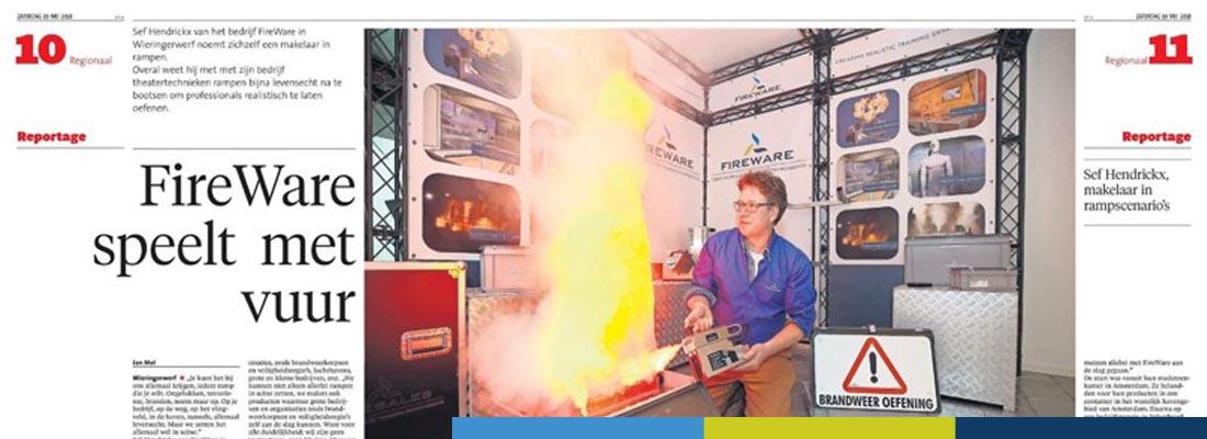 FireWare speelt met vuur in de krant NHD