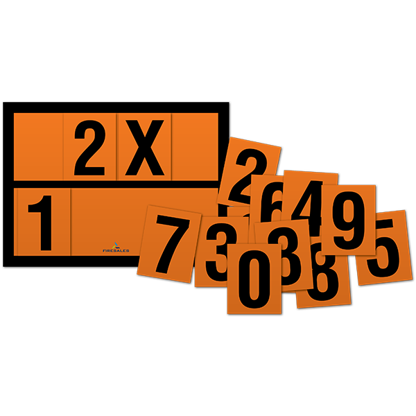 028-030-004 ADR nummers set magnetisch