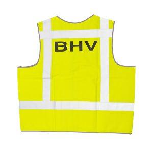 046-076-002 Signaalvest bedrukt BHV geel