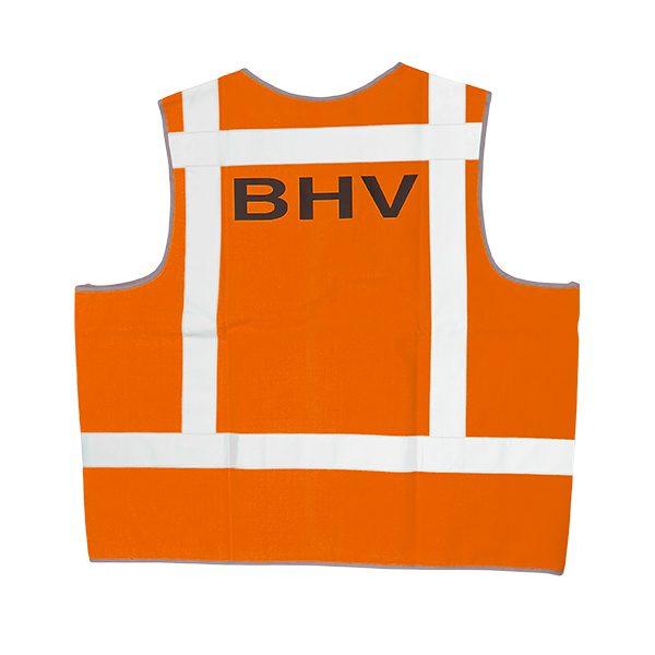 046-076-004 Signaalvest bedrukt BHV oranje