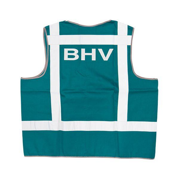 046-076-008 Signaalvest bedrukt BHV groen
