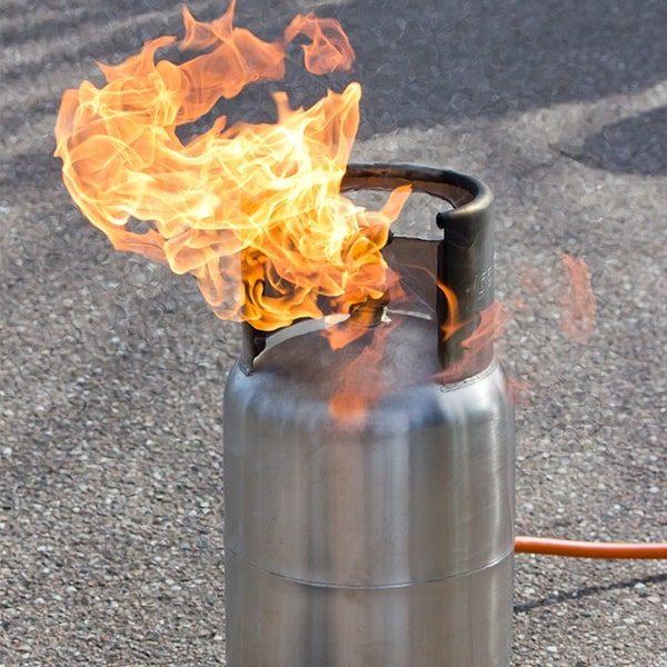 049-027-005 Stand-alone Gas Cylinder staand vlammend