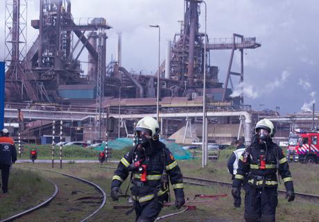 Maandelijkse eindoefening Tata Steel