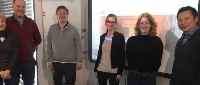 Bezoek van internationale partners Ruth Lee en Tecsen Technologies