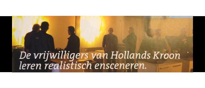 De vrijwilligers van Hollands Kroon leren realistisch ensceneren