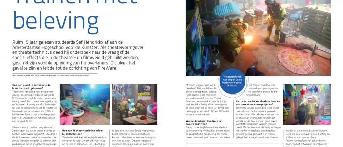 Gaaf artikel over Fireware in de juli uitgave van EHBO.nl