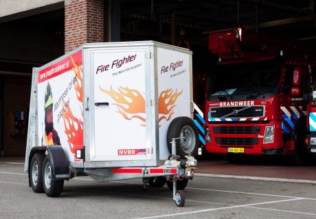 Oefenaanhangwagen voor Jeugdbrandweer