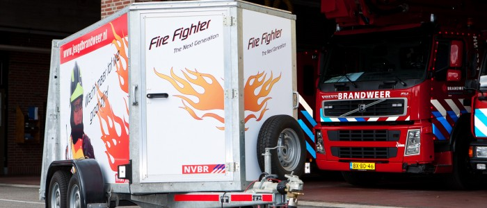 Practice Trailer for the Junior Fire Service