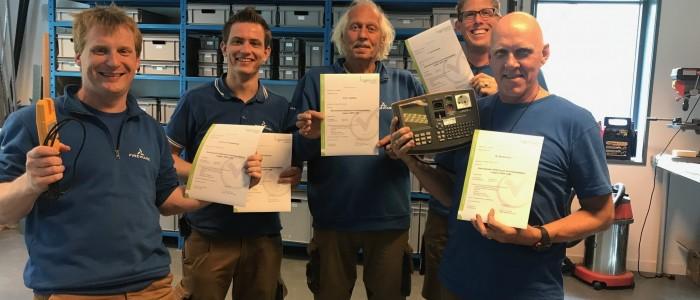 Das Team Technischer Dienst von FireWare im Zusammenhang mit NEN 3140 nachgeschult