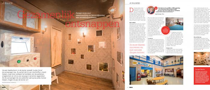 Mooi artikel in de juli uitgave van EHBO.nl over de door FireWare ontwikkelde escaperoom!