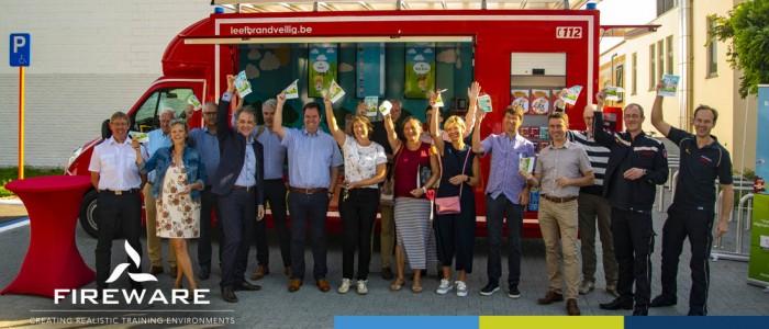 Das Van Vlam-Fahrzeug wird die Hilfeleistungszone Östliches Flämisch-Brabant bei der Aufklärung der Bevölkerung unterstützen!