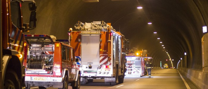 Training exercise in the Westerschelde tunnel
