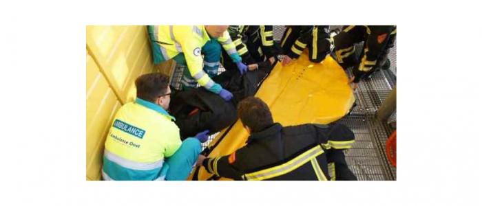 Rav Ambulance Oost aan de slag met onze Obese oefenpop.