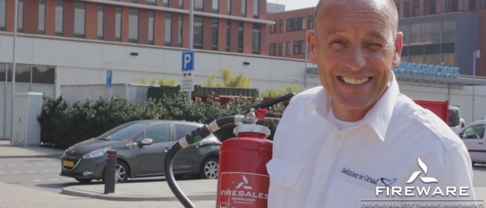 The Renier De Graaf Hospital in Delft fills their own fire extinguishers