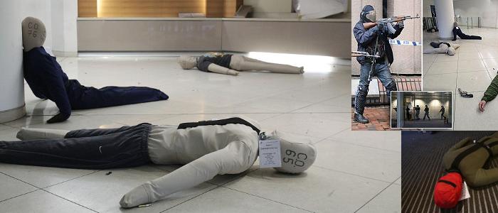 Ruth Lee Dummies gebruikt bij grote Terrorisme oefening in Londen