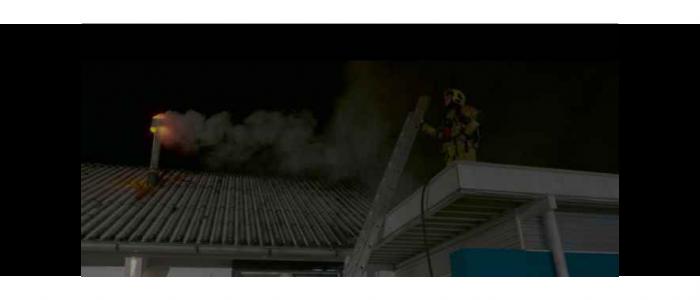 Simulatie schoorsteenbrand voor Brandweer Flevoland
