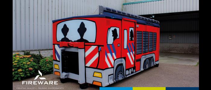 La prévention d'incendie « BVL » Drenthe; monter dans une autopompe FPT