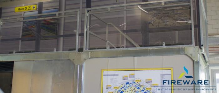 De magneetwanden geplaatst in het nieuwe trainingscentrum van Schiphol